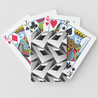 3D squares Bicycle Playing Cards