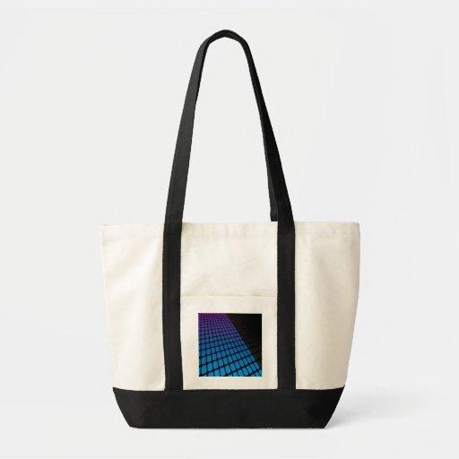 3D Squares Grid Layout Canvas Bags