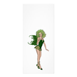 3D St. Patrick's Day Green Fairy Rack Card