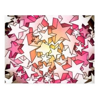 3D Stars Postcard