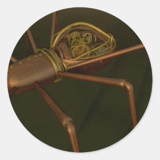 3D Steampunk spider Classic Round Sticker