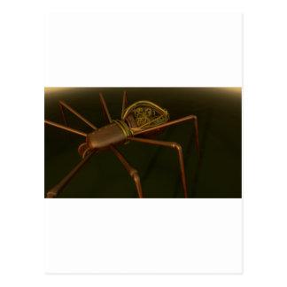 3D Steampunk spider Postcard
