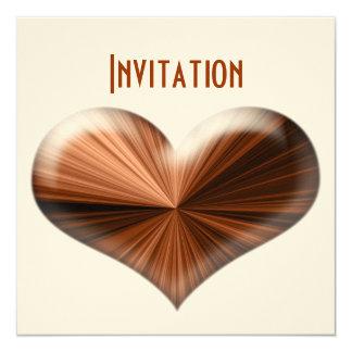 3D Stunning Modern Heart Design Invitation