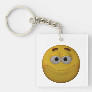 3d Style Mood Swing Emoticon Keychain
