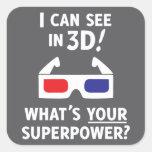 3D Superpower Stickers