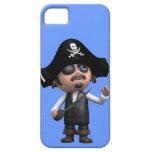3d Surprised Pirate (editable) iPhone 5 Cases