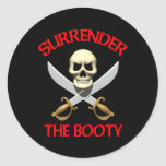 3D Surrender the Booty Sticker