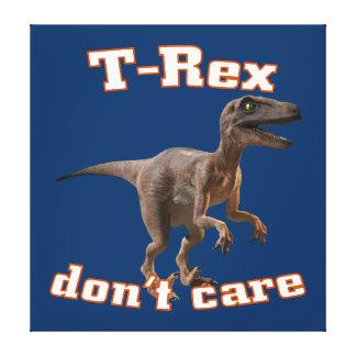 3d T-Rex don't care Canvas Prints