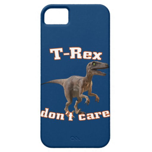 3d T-Rex don't care iPhone 5 Covers