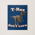 3d T-Rex don't care Jigsaw Puzzles