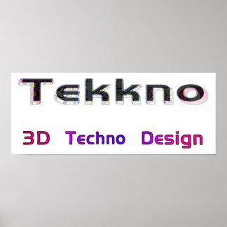 3d techno design 2 poster