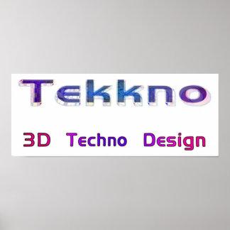 3d techno design 2a posters
