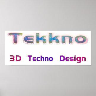 3d techno design 2b poster