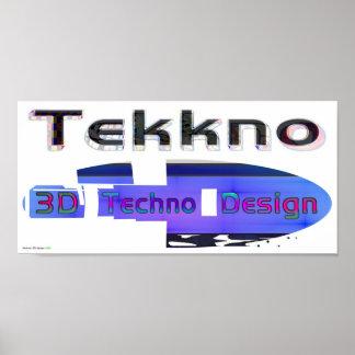 3d techno design 3a poster