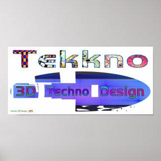 3d techno design 3b posters