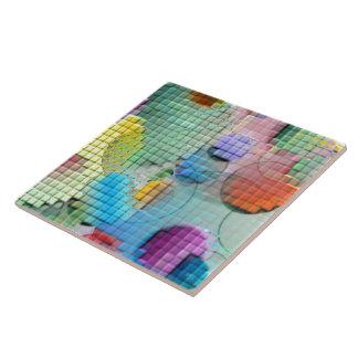 3D tejó el extracto Azulejo Cuadrado Grande
