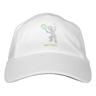 3D Tennis Player Tennis Racket Ball Personalized Hat