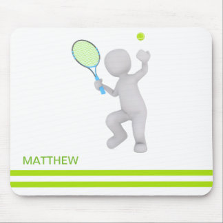 3D Tennis Player Tennis Racket Ball Personalized Mouse Pad