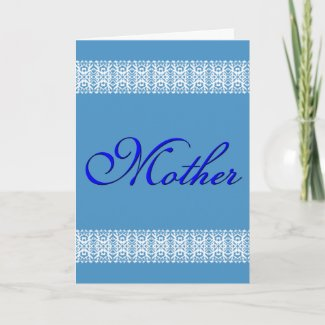 3D Text Lace Mother's Day card