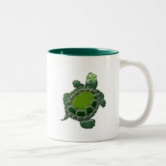 3D Textured Turtle Two-Tone Coffee Mug