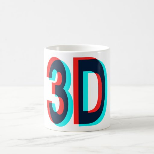 3D Three Dimension Design Coffee Mug