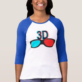 3D Three Dimension Design T-Shirt