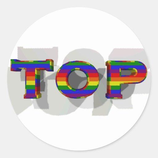 3D Top Sticker