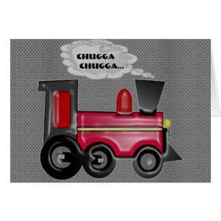 3D Train Greeting Card