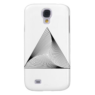 3d Triangle Optical Illusion Galaxy S4 Cases