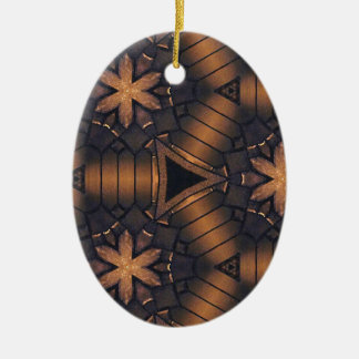 3D Tubular  Making Connections Hip Pattern Ceramic Ornament