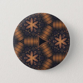 3D Tubular  Making Connections Hip Pattern Pinback Button