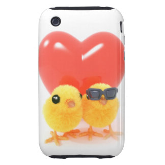 3d Two Cute Chicks in Love iPhone 3 Tough Cover