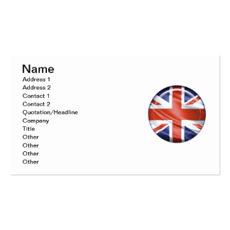 3D UK flag Double-Sided Standard Business Cards (Pack Of 100)