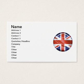 3D UK flag Business Card