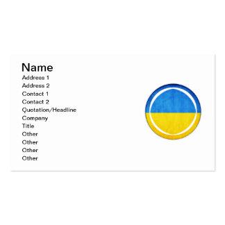 3D Ukraine flag Business Card Templates