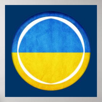 3D Ukraine flag Posters