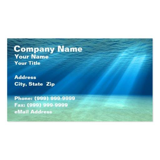 3D Underwater Ocean Scene Business Cards