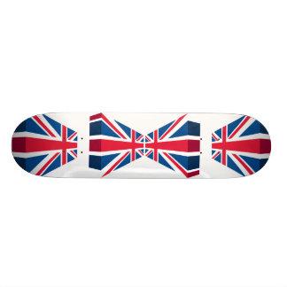 3D Union Jack, British flag Skate Board Deck