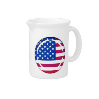 3D USA flag Drink Pitcher