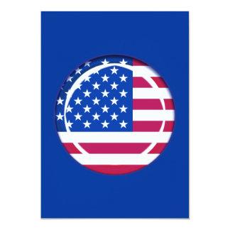 3D USA flag Custom Invite