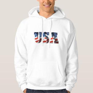 3D USA FLAG Patriotic Retro Hoodie Sweatshirt