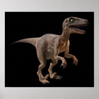 3d Velociraptor Poster