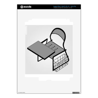 3d view of a drafting table iPad 3 skins