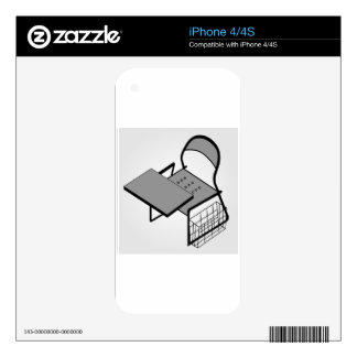 3d view of a drafting table skin for iPhone 4S