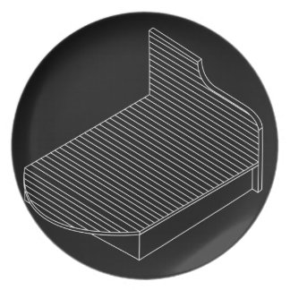 3d view of a wooden bed furniture melamine plate