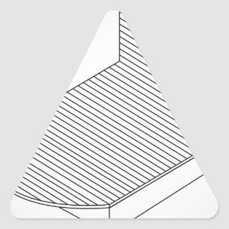 3d view of a wooden bed furniture triangle sticker