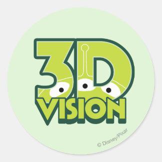 3D Vision Classic Round Sticker