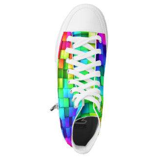 3D Vivid Cube High-Top Sneakers
