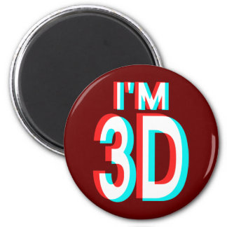 3D Watching I'm 3D Items 2 Inch Round Magnet