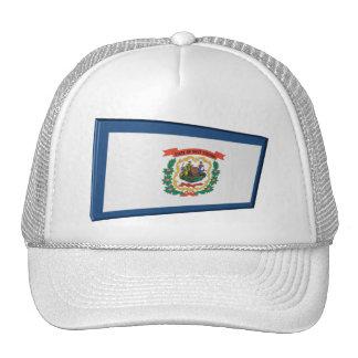 3D West Virginia State Flag Trucker Hat